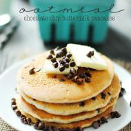Oatmeal Chocolate Chip Buttermilk Pancakes   www.somethingswanky.com