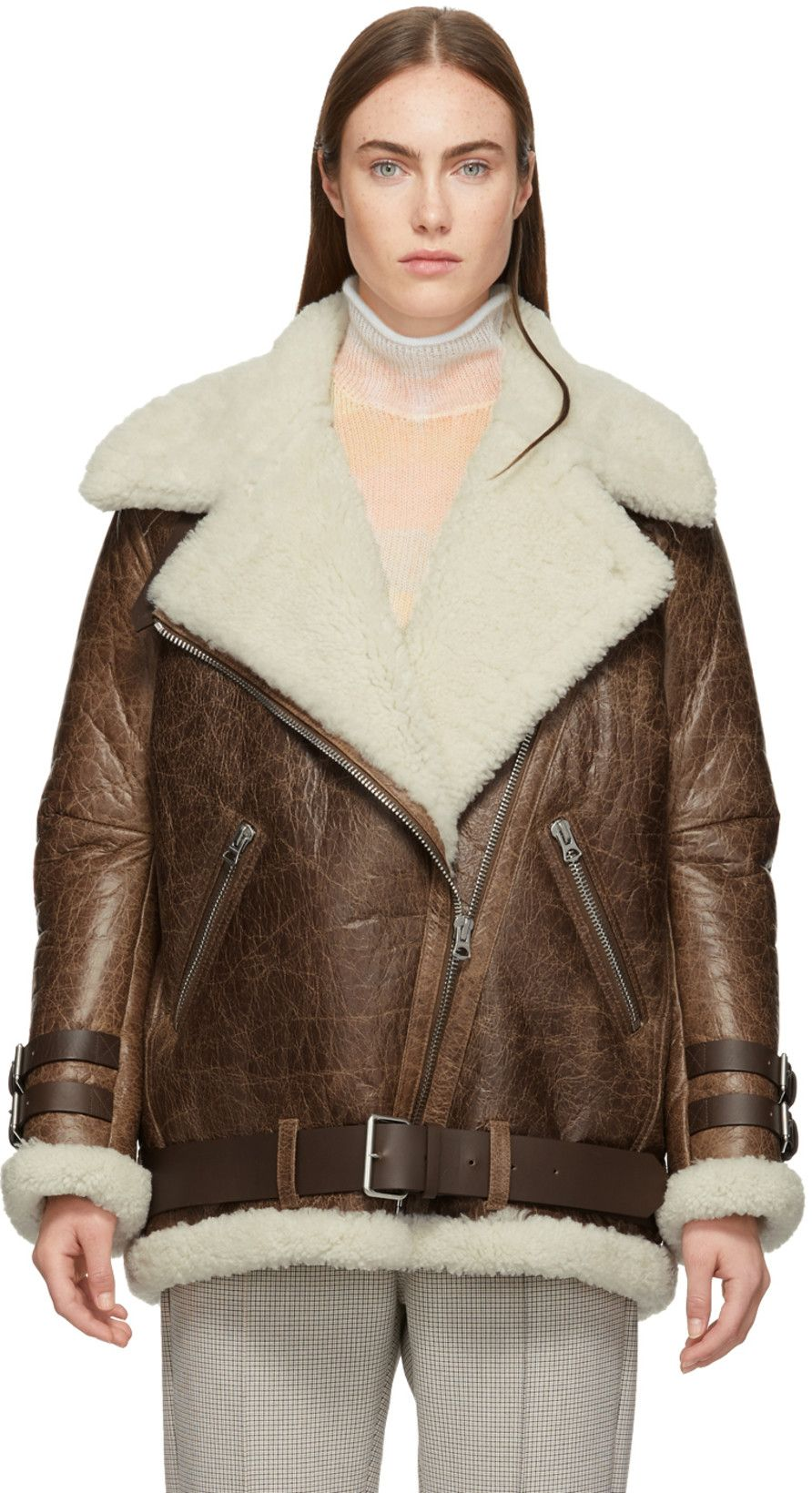 Acne Studios Brown Vintage Velcocité Jacket Dámská