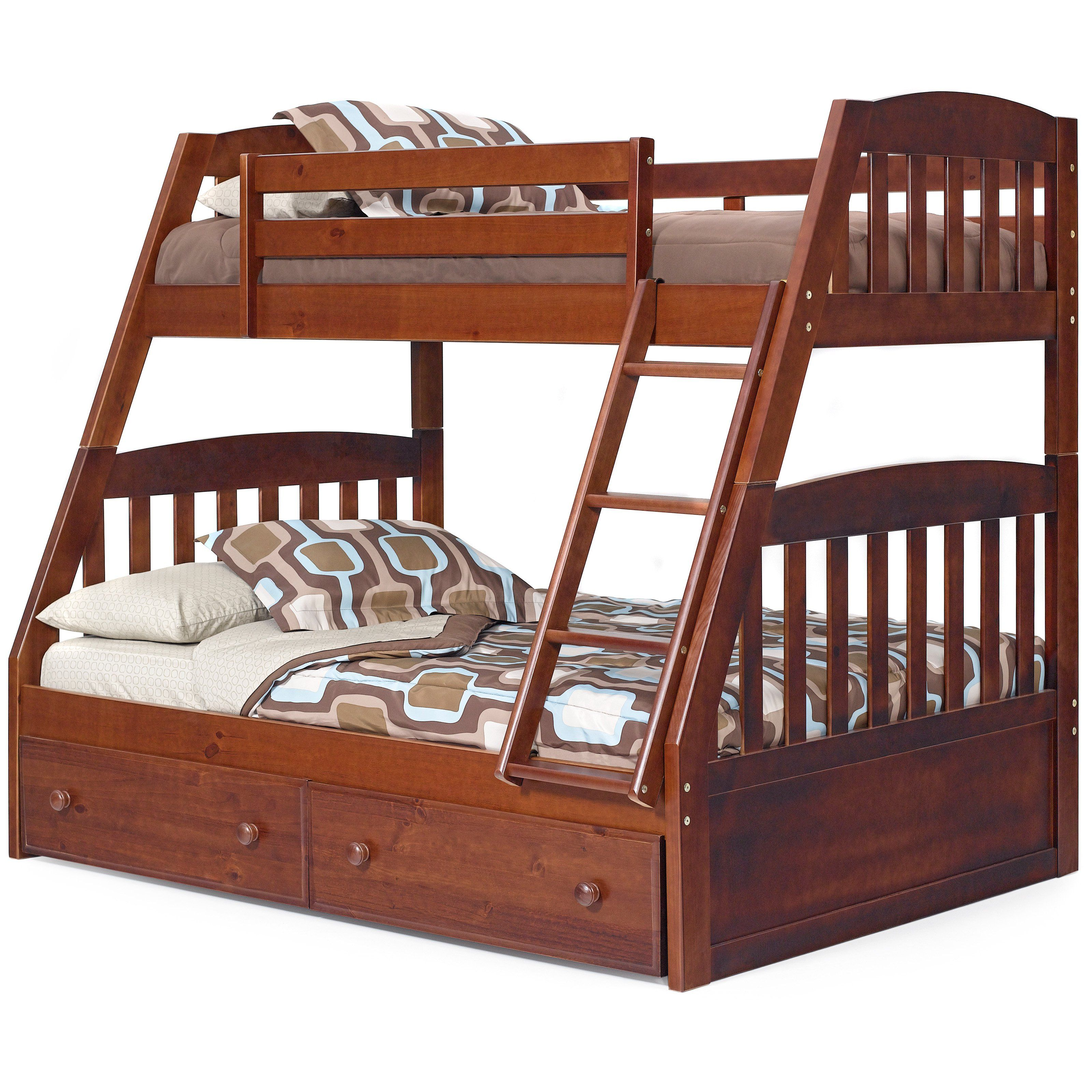 Logan Chocolate Mission Twin Over Full Bunk Bed A Children S Bunk