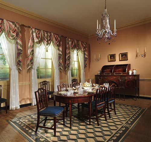 American federal era period rooms thematic essay for Dining room at the met