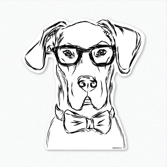 Harvey Great Dane Decal Sticker Great Dane Lover Gifts For Dog
