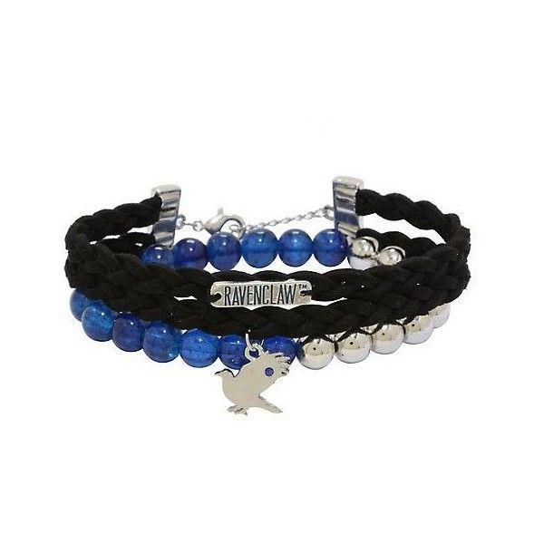 Charm BRACELET Harry Potter Inspired Themed Blue Beads Ravenclaw Girls Fan Gift