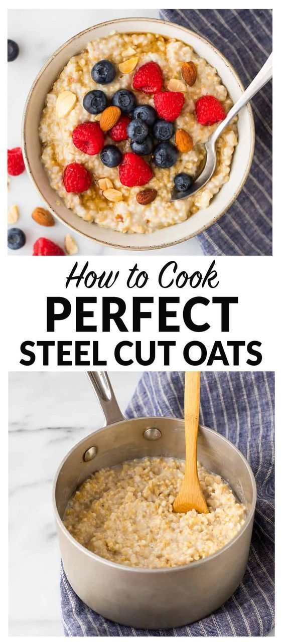 Cut Oats | How to Cook the Perfect Bowl How to cook steel cut oats. The secret to making perfect steel cut oatmeal on the stovetop that turns out delicious and creamy every time! Healthy and low calorie, this is the only oatmeal recipe you need. Simple, vegan, and high in fiber, steel cut oats keep you full all morning long. Easy to make ahead and great f