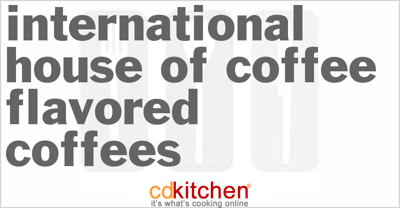 A recipe for International House Of Coffee Flavored Coffees made with creamer, sugar, instant coffee, baking cocoa, peppermints, orange flavored piece of