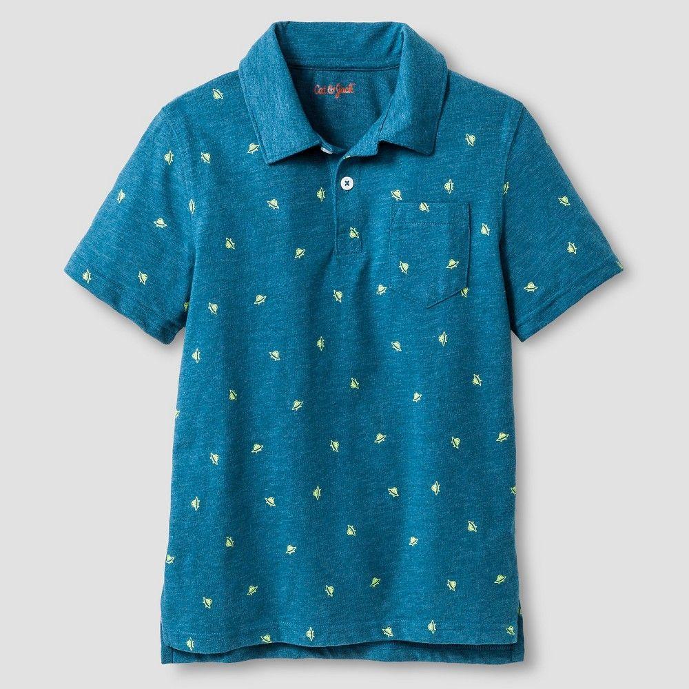 8c0d2a3e Boys' Space Print Polo Shirt Cat & Jack - Blue Xxl, Boy's | Products