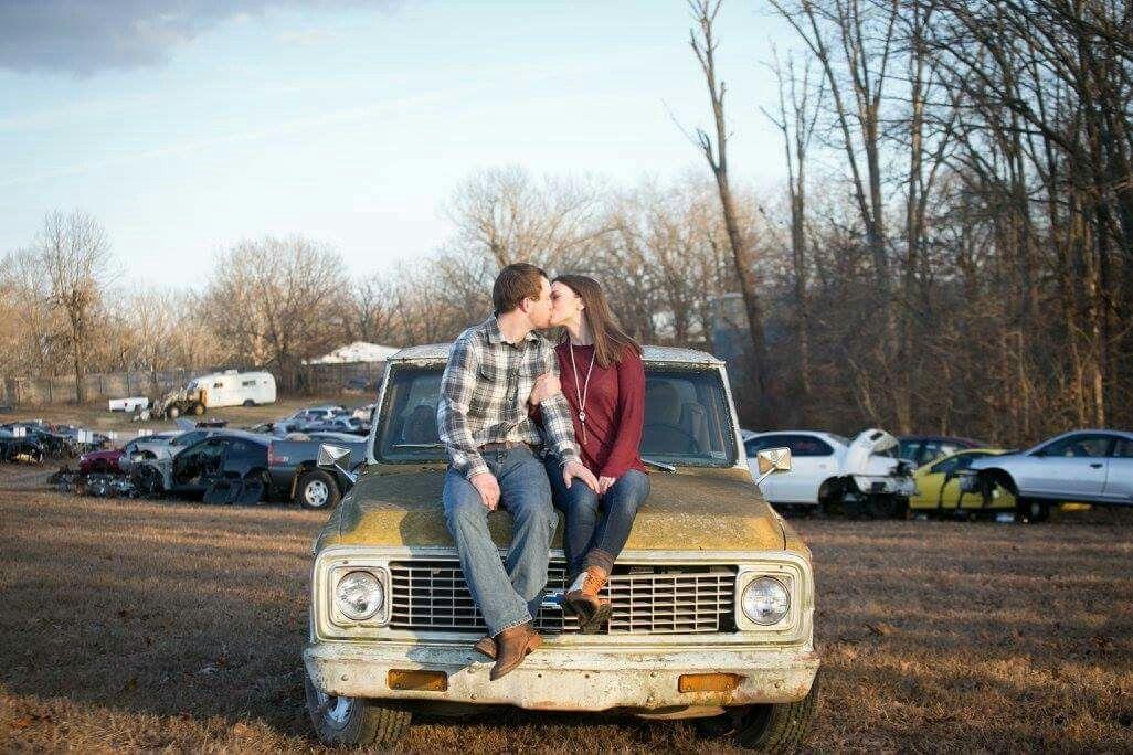 Junk yard engagement shoot