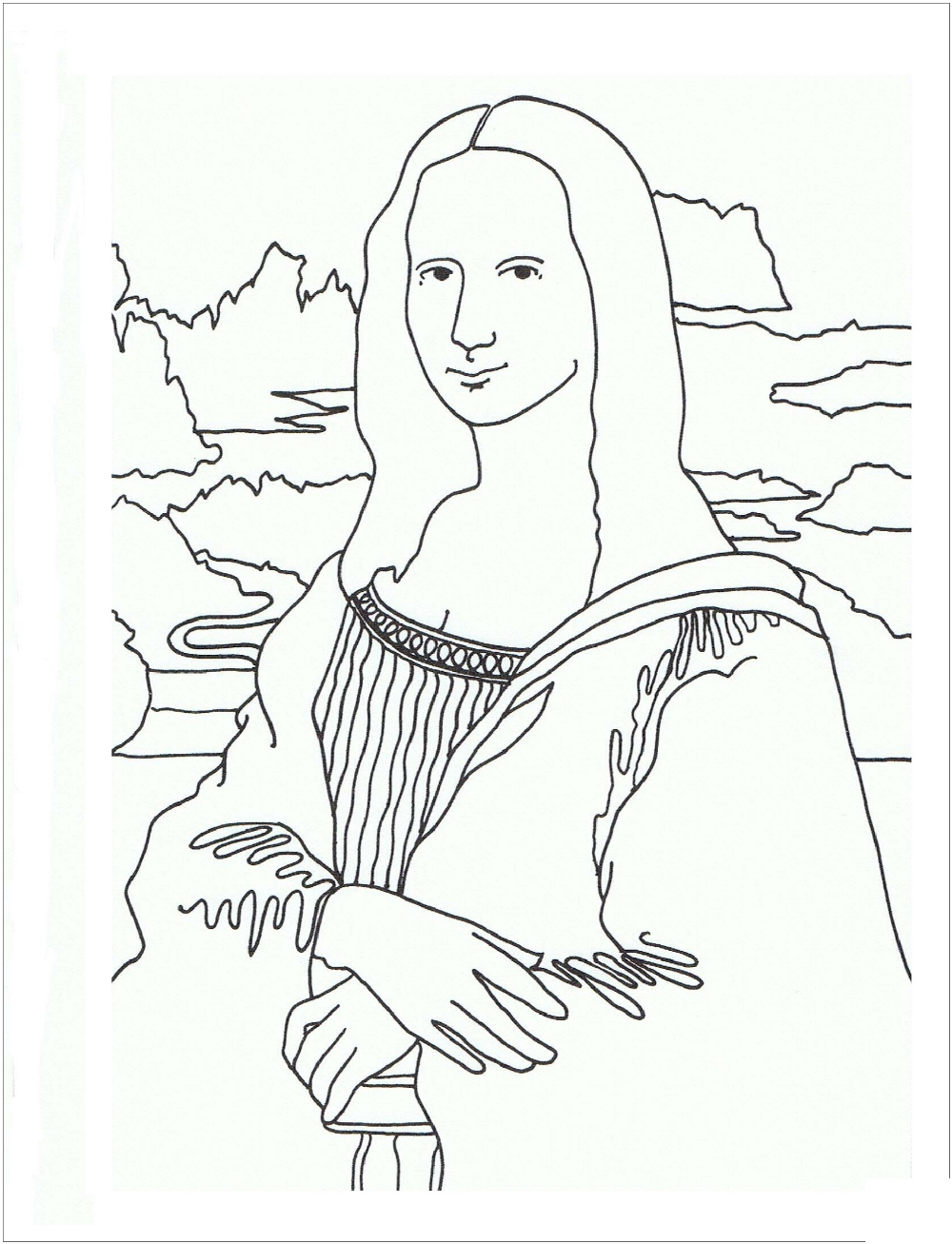Mona Lisa Coloring Page Printable Disney Princess Coloring Pages Summer Coloring Pages Princess Coloring Pages