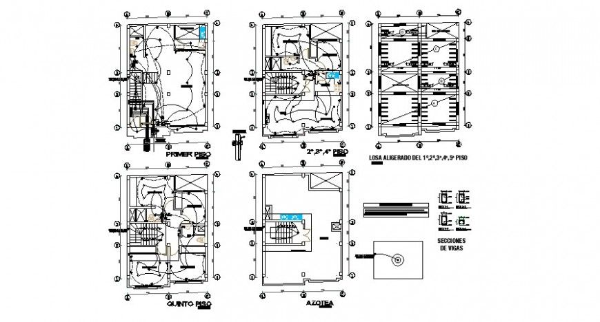 Electrical installation layout plan details for villa