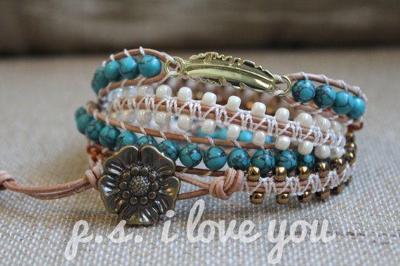 Leather Wrap Bracelet 'Simply Southwestern' by PSiloveyouSHOP, $36.00