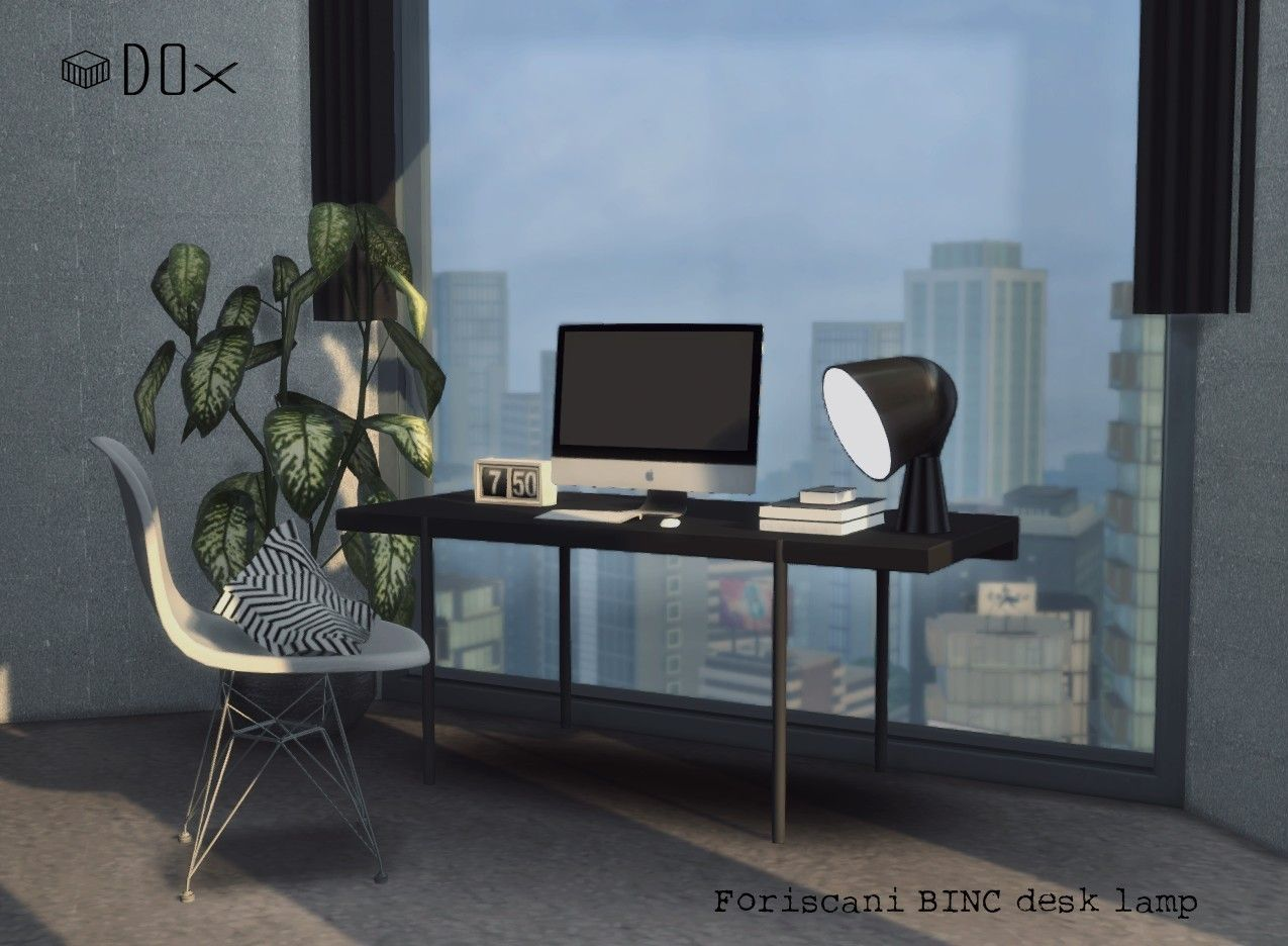 Foriscani binc desk lamp for the sims 4 by dox