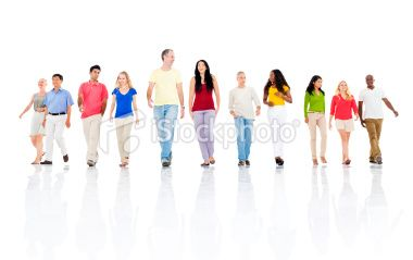 Group Of People Walking Forward Latest Images Stock Photos