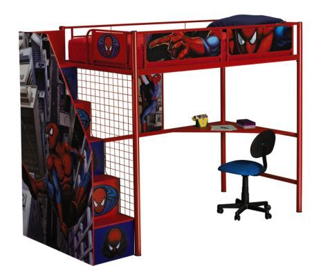 Spiderman Stair Loft Bed 499 99 Loft Beds Pinterest Bed