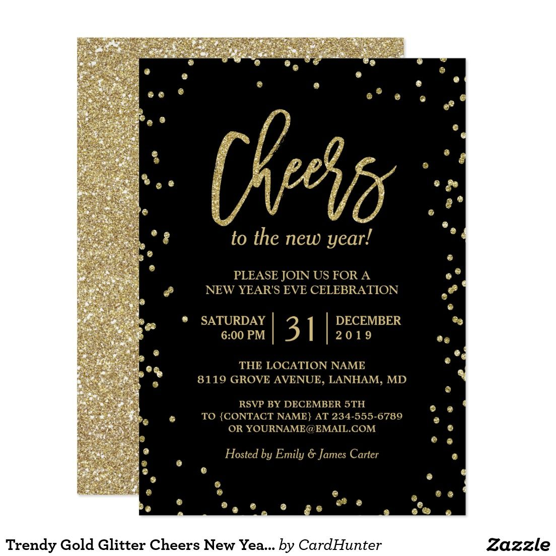 Create your own Invitation  Zazzle.com  New years eve