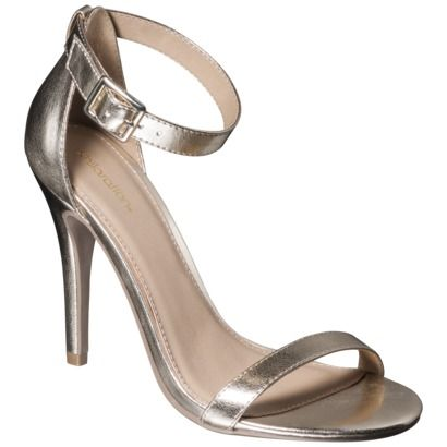 simple and elegant  silver strappy shoes womens gold
