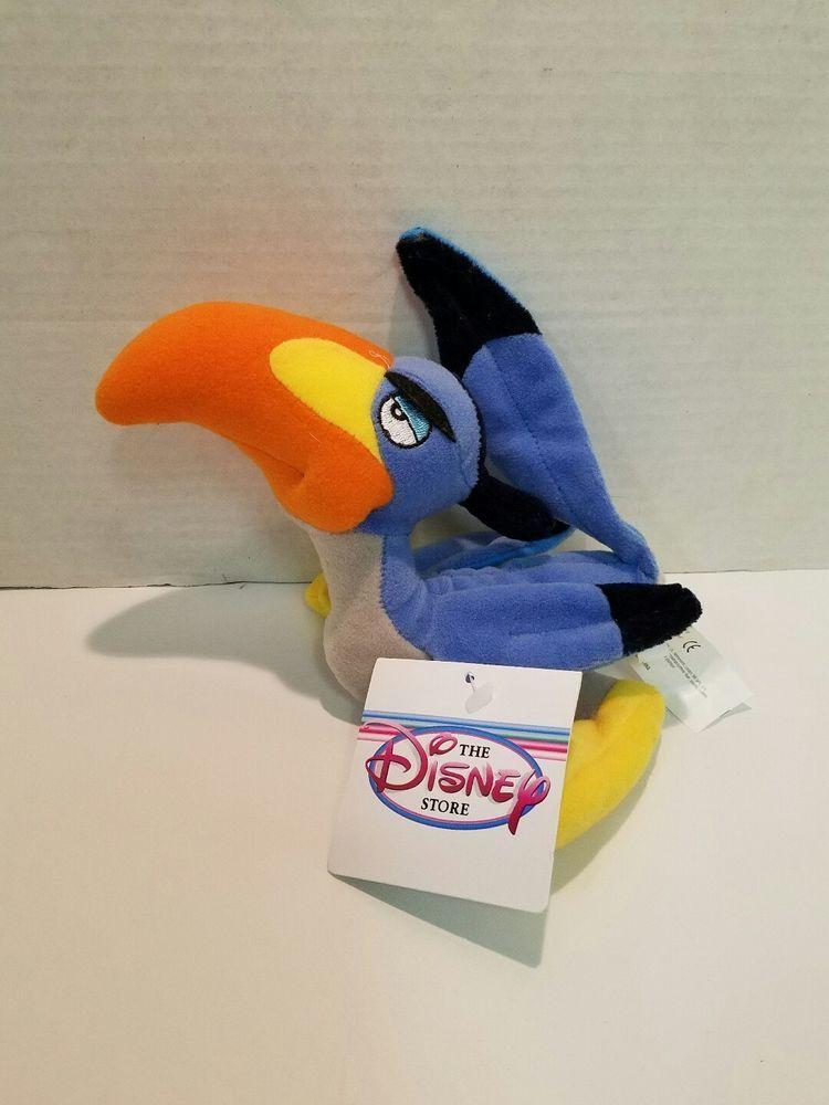 Disney Store Plush Zazu Bird Bean Bag The Lion King
