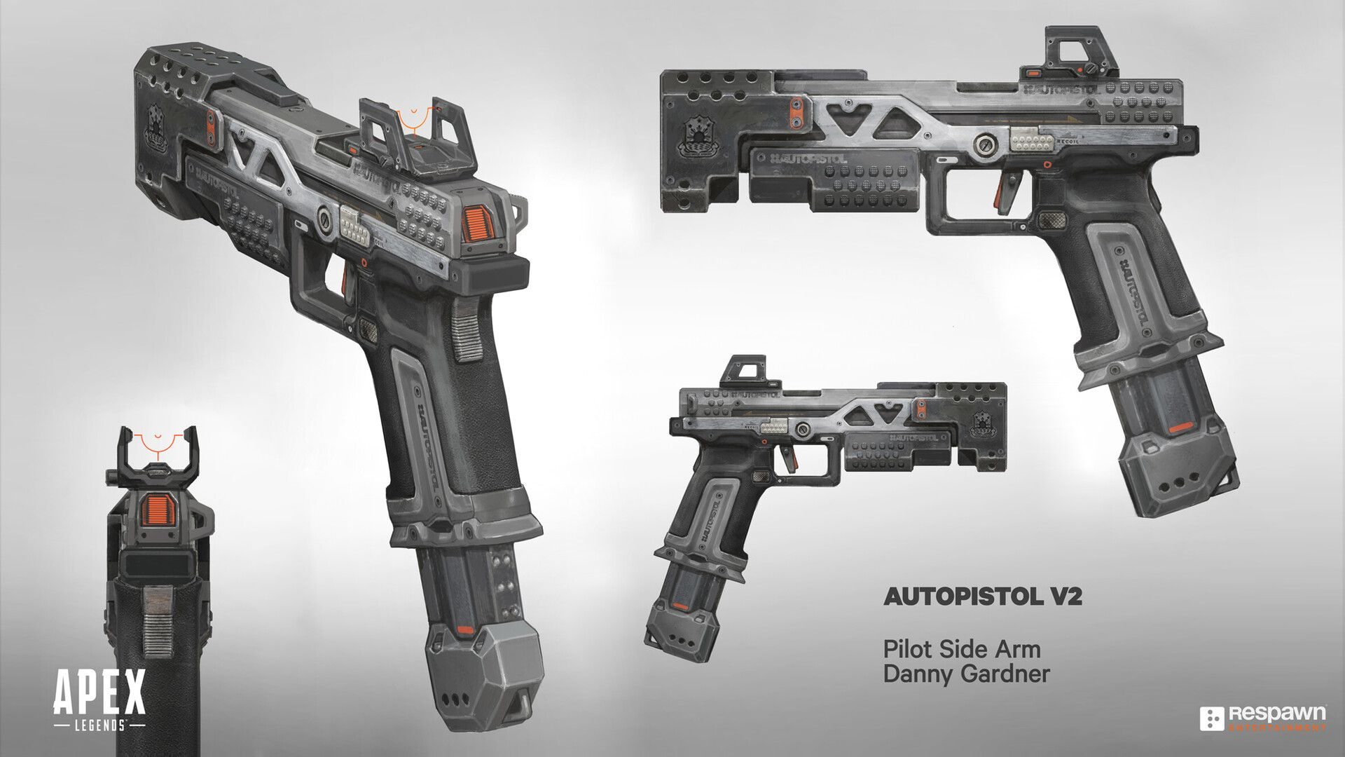 RE45 Auto Pistol from Titanfall 2 Fan-art