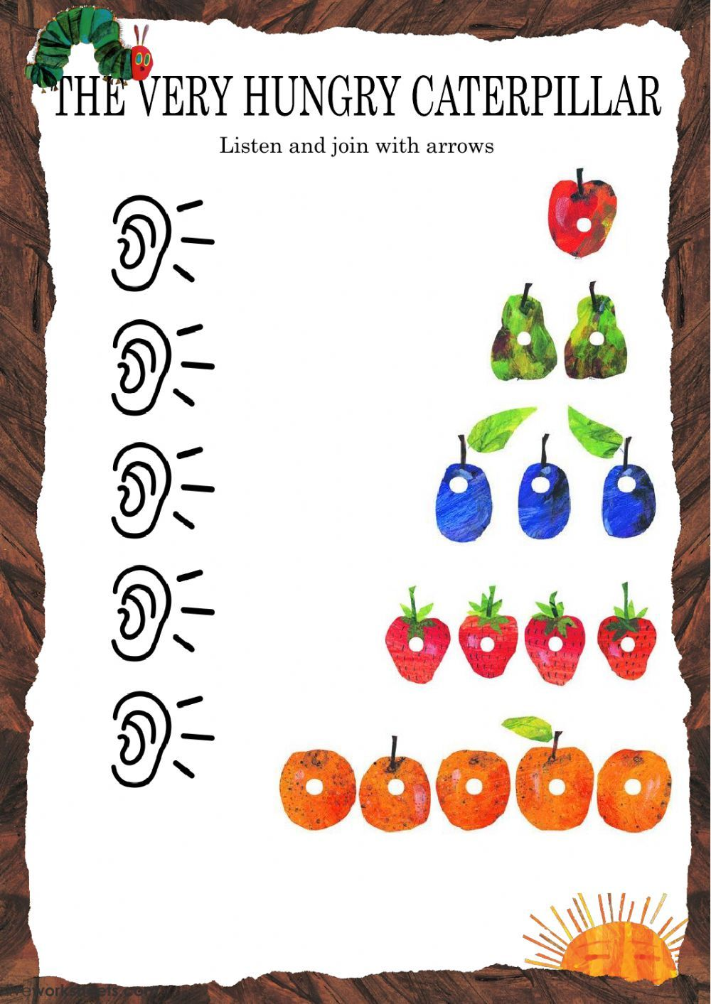 The Very Hungry Caterpillar Interactive And Downloadable Worksheet You Can Do The Exerc Hungry Caterpillar The Very Hungry Caterpillar Very Hungry Caterpillar [ 1413 x 1000 Pixel ]