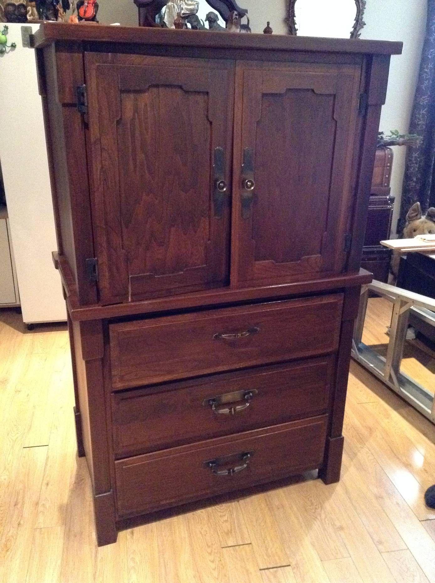 Avant apr s transformer une commode en banc commode - Transformer une armoire en bureau ...