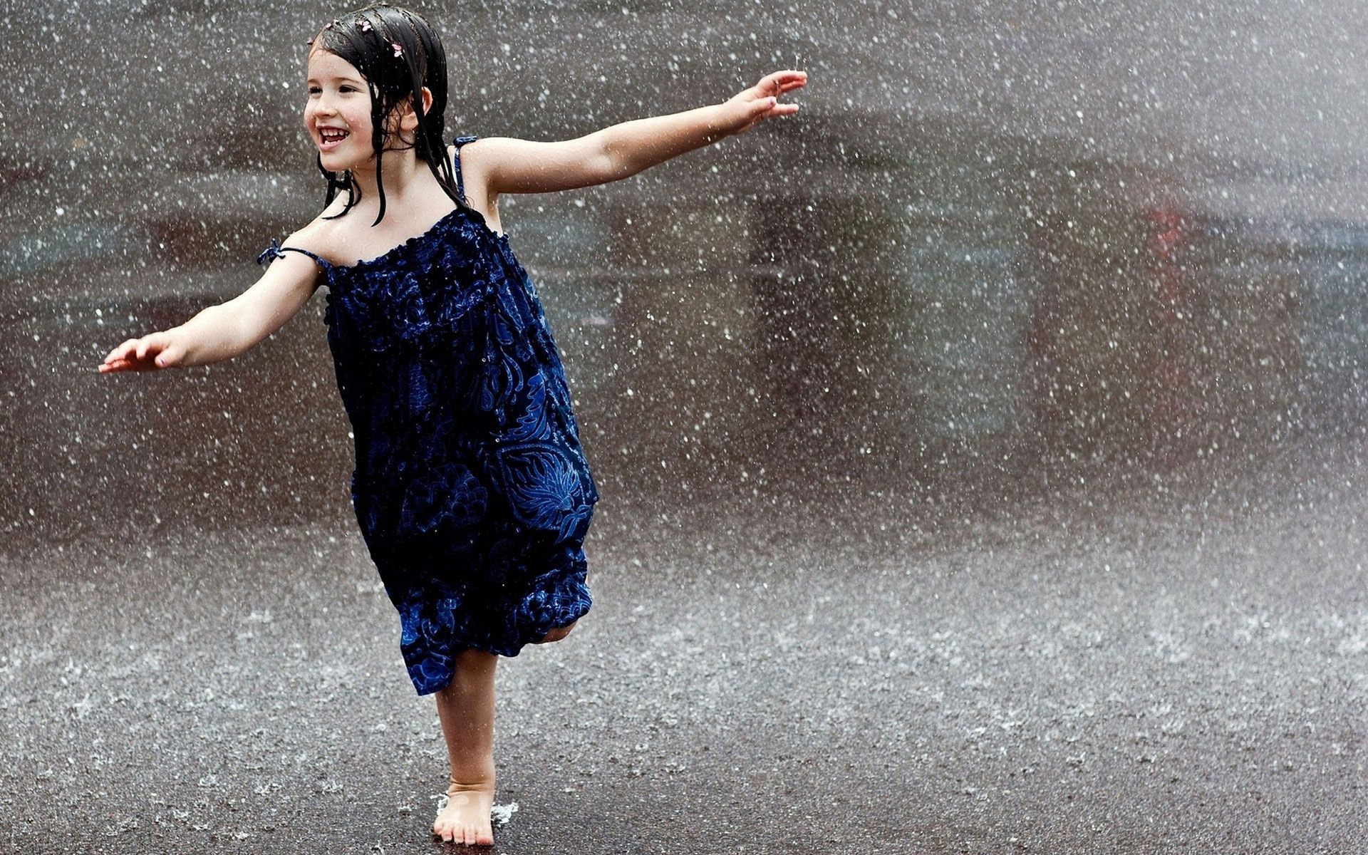 Little Girl In The Rain | Photography wallpaper style in ...