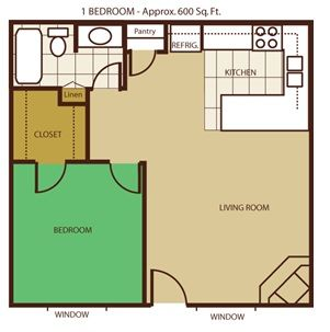 The One Bedroom Floorplan Guest House Plans Apartment Floor Plans Cheap Tiny House