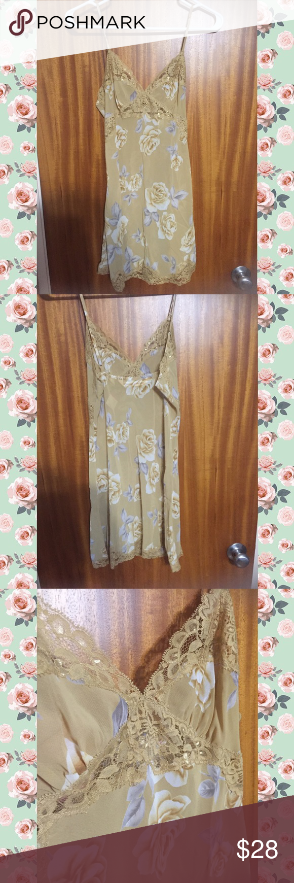 Brand New Victoria's Secret PJs! Cream nightgown with adorable light blue and tan floral pattern. Perfect condition. Unworn. New with tags! Victoria's Secret Intimates & Sleepwear Pajamas