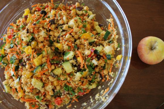 veggie quinoa salad - made this - everyone liked it - vegan and non-vegan...interesting blend of ingredients...but tasted great!!!