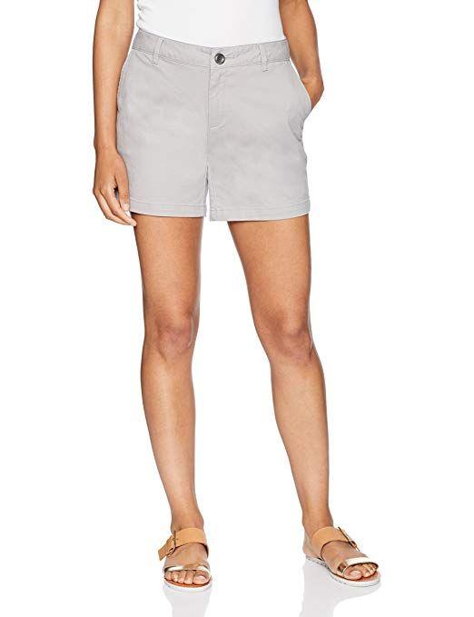 Essentials Womens 7 Inseam Solid Chino Short