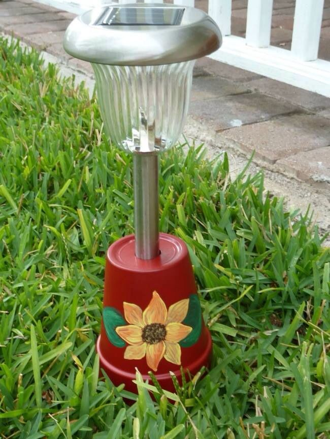 Pinterest & Painted flower pots turned upside down create a great solar ...