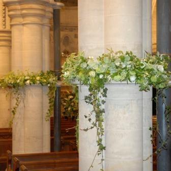 Ivy trailing greens wedding love pinterest church flowers april wedding junglespirit Choice Image