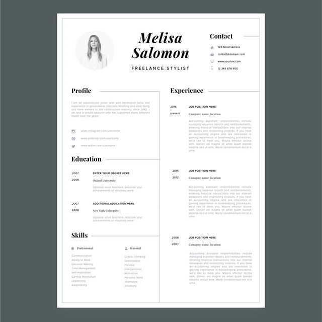 Resume Templates For Microsoft Word Creative Resume Template In Microsoft Wordcv With Modern And