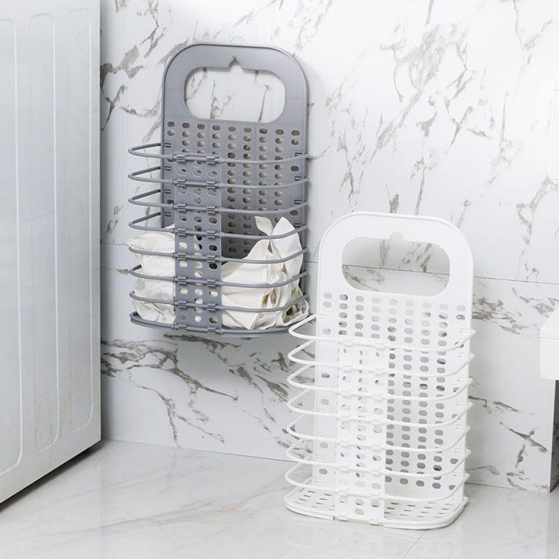 Foldable Free Punching Laundry Storage Basket In 2020 Laundry Basket Bathroom Basket Storage Storage Baskets