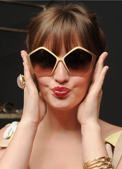043e4b91ae7 Leighton Meester at Miu Miu Culte Sunglasses Party in New York.
