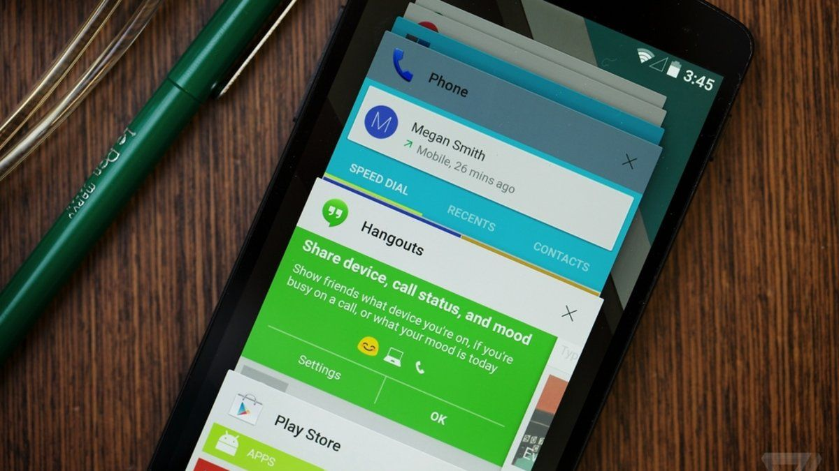 Cards, from Google's Material Design for Android