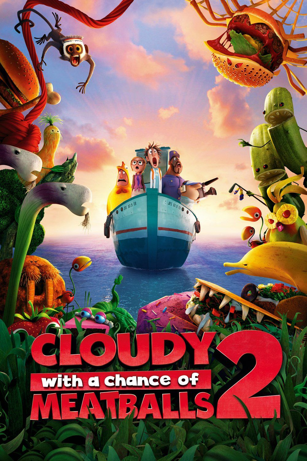 Free Full Cartoon Movies click image to watch cloudy with a chance of meatballs 2