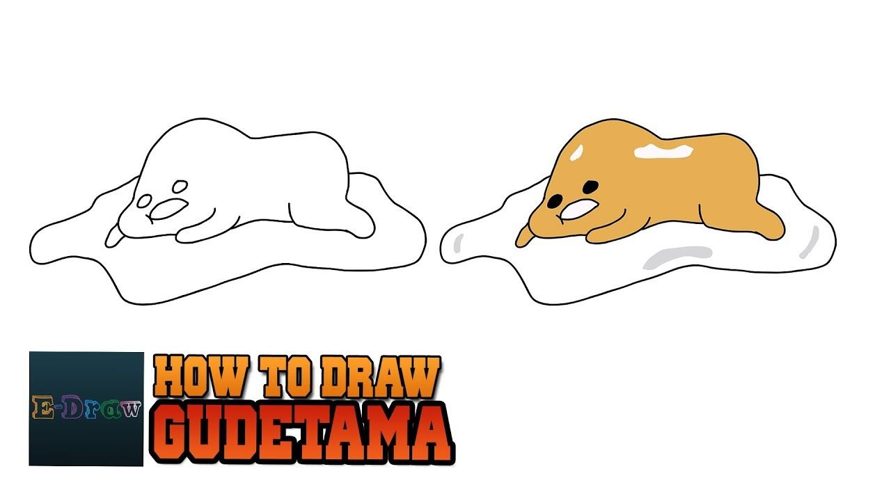 How To Draw Lazy Egg Gudetama Japanese Character Drawing Tutorial