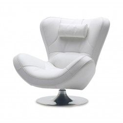 Sill n moderno giratorio a386 blanco de angel cerd for Sillones individuales