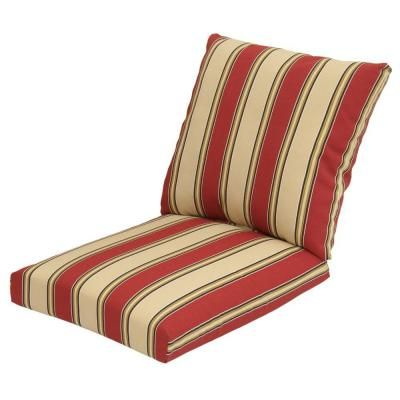 Hampton Bay Chadlark Stripe 2 Piece Outdoor Deep Seating Cushion