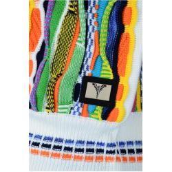 Photo of Bunter Rollkragenpullover für Frauen mit Kapuze, weißer und farbenfroher Carlo Colucci
