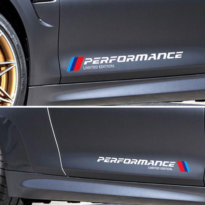For Mercedes Benz BWM Abarth Car Vinyl Side Skirt Sticker Vehicle Decal White