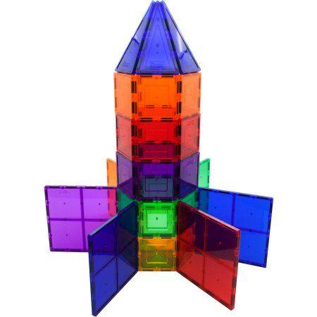 Picasso Tiles 100 Piece 3d Color Magnetic Building Block Stem Set Walmart Com Magnetic Tiles Magnetic Building Tiles Magna Tiles