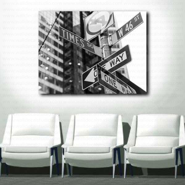 Street Sign Home Decor Cool Times Square Street Sign New York City Canvas Fine Art Poster Design Inspiration