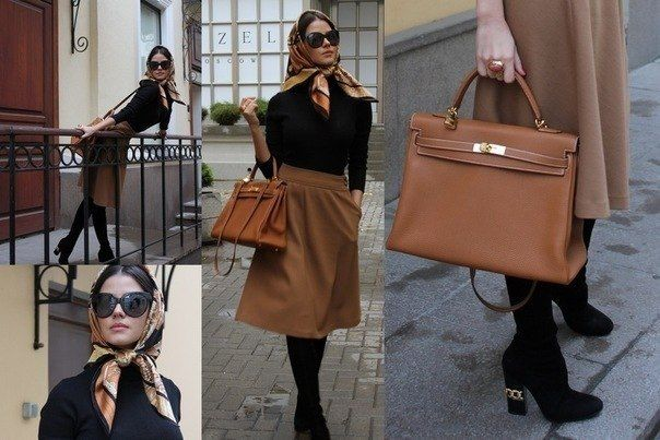 camel and black + kelly Bag