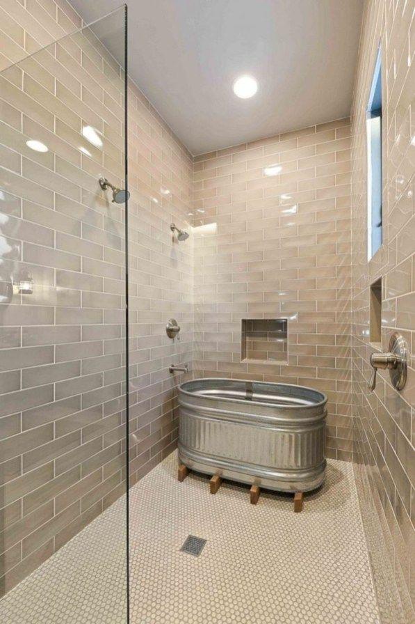 Photo of Rustic farmhouse bathroom ideas with shower 43