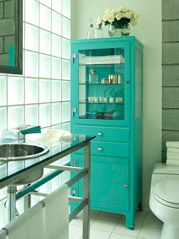 Schrank für badezimmer  kleine Badezimmer grün schrank idee | Dusche | Pinterest | kleine ...