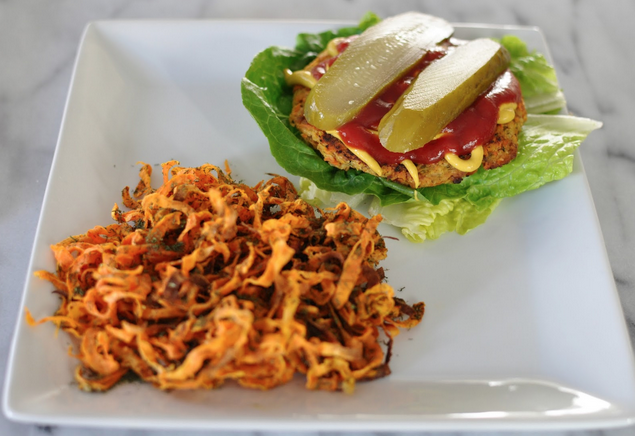 This is the best veggie burger! Not only is it paleo, but it has the perfect texture. I was eating these before I was even paleo and make a batch almost every week! These burgers also taste great topped with No Bean Hummus and/or Artichoke Pesto. Save Print Paleo Vegan Gluten Free Veggie Burgers Author:Adapted...Read More »