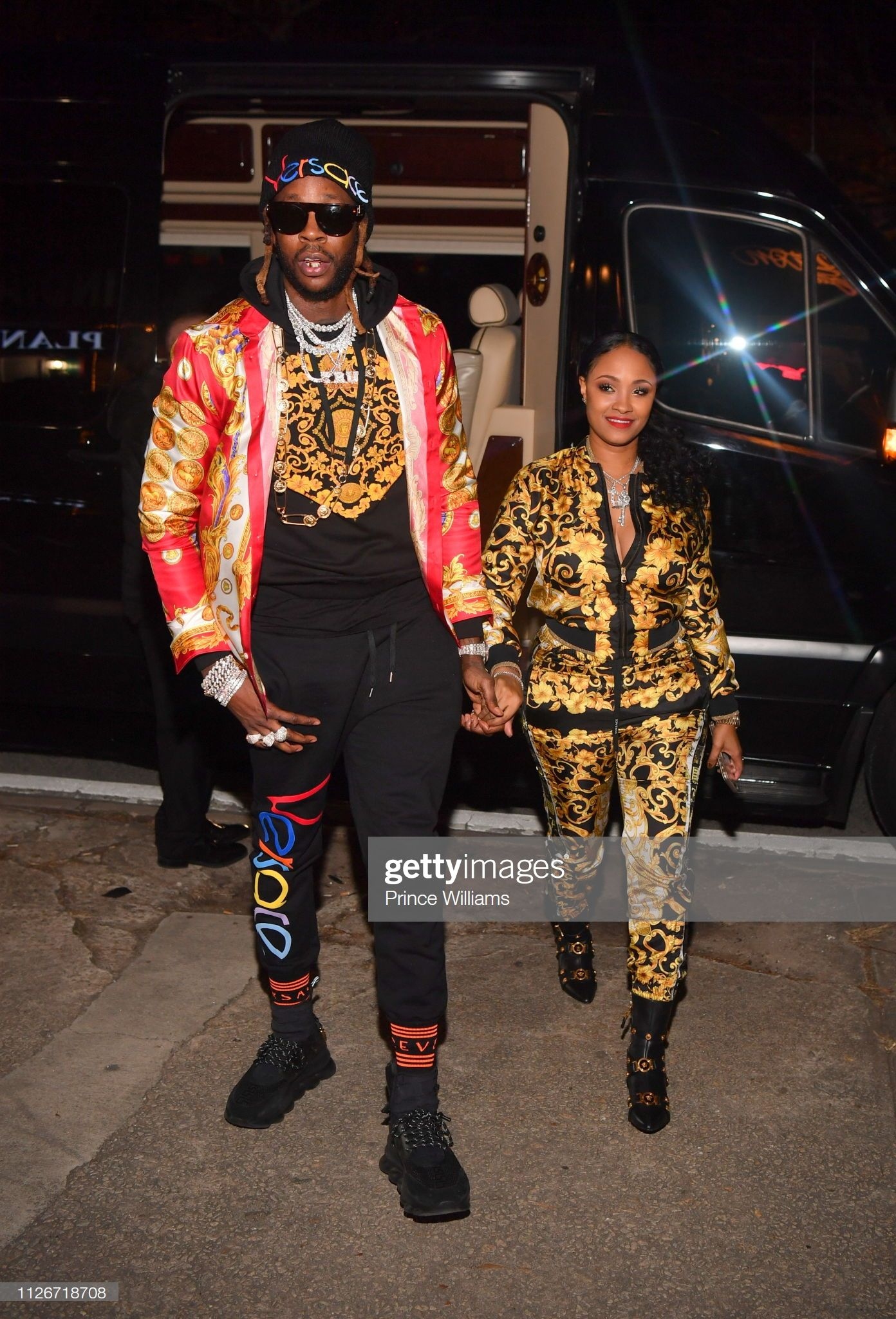 News Photo Kesha Ward And 2 Chainz Attend 2 Chain Reaction Versace Versace Sneakers Kesha