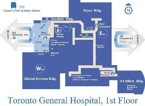 Toronto General Hospital Map Toronto general hospital floor plan | Design projects | Hospital