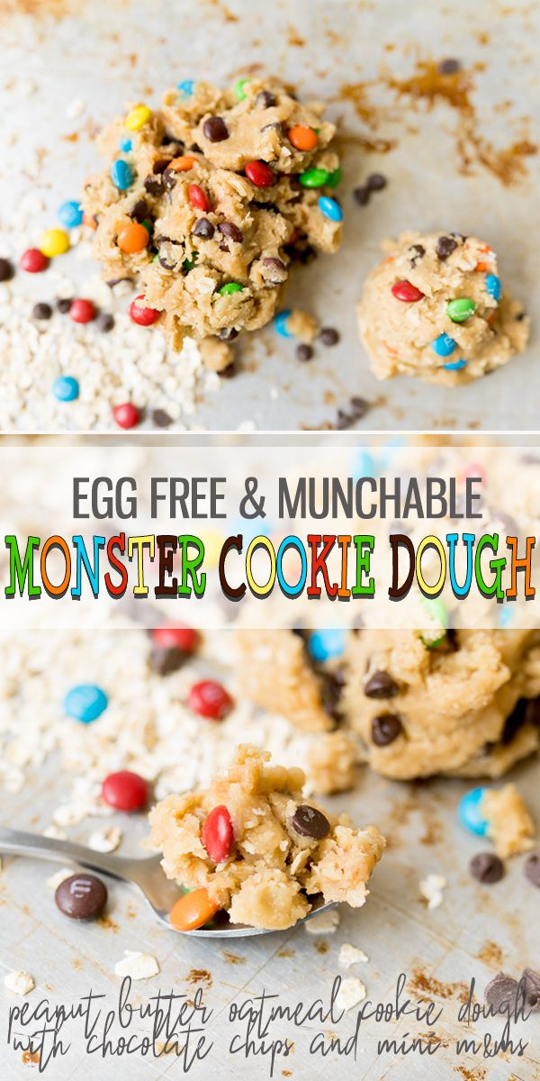 Egg Free Monster Cookie Dough - Cooking With Karli