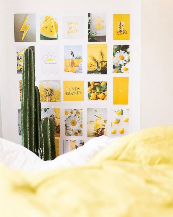 Top Yellow Aesthetic Bedroom Reviews! 91 - Dizzyhome.com #yellowaesthetic