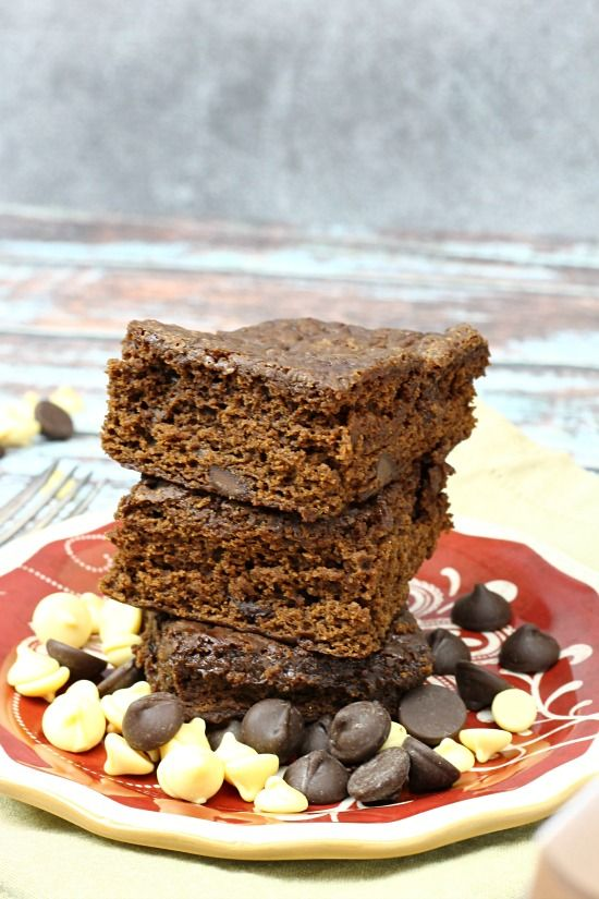 Good For You Triple Chocolate Brownies are rich, dense and decadent #AllWhitesEggWhites @allwhiteseggs #ad #sponsored